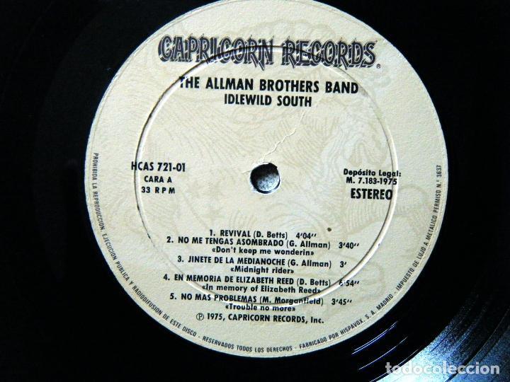 Discos de vinilo: THE ALLMAN BROTHERS BAND / IDLEWILD SOUTH. - Foto 3 - 122876447