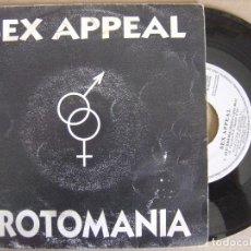 Discos de vinilo: SEX APPEAL - EROTOMANIA - SINGLE PROMOCIONAL 1993 - ENFASIS. Lote 122881363