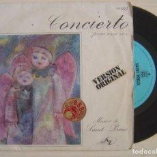 Discos de vinilo: SAINT-PREUX - CONCIERTO PARA UNA VOZ + VARIACIONES - SINGLE ESPAÑOL 1970 - HISPAVOX. Lote 122882023