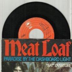 Discos de vinilo: MEAT LOAF SINGLE PARADISE BY THE DASHBOARD LIGHT / BAT OVERTURE - HOLANDA 1978. Lote 122893831