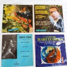 Discos de vinilo: 4 SINGLES MUSICA ESPAÑOLA. Lote 122907379