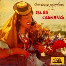 Discos de vinilo: LITA FRANQUIS Y EL CONJUNTO CANARIO DE JUAN CURBELO - BENDITA TIERRA CANARIA + 3 - REGAL - AÑO 1958. Lote 122913115