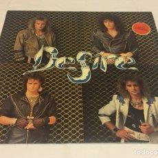 Discos de vinilo: DESIRE - DESIRE LP (HARD ROCK MELÓDICO DE TARRAGONA, SANGRE AZUL, EXCESS, ZEUS, BRUQUE, NEXIS). Lote 122932935