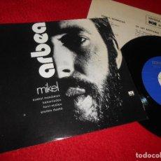 Discos de vinilo: MIKEL ARBEA EUSKAL MENDIETAN/BAKARDADEA +2 EP 1972 EDIGSA/H.G. EUSKERA EUSKADI. Lote 122940587