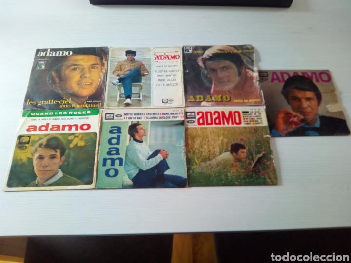 LOTE DISCOS SINGLE ADAMO VINILO 45 RPM (Música - Discos - Singles Vinilo - Solistas Españoles de los 50 y 60)