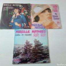 Discos de vinilo: LOTE DISCOS SINGLE MIREILLE MATHIEU VINILO 45 RPM. Lote 122952791