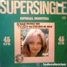 Discos de vinilo: BONNIE TYLER / MARRIED MEN (HOMBRES CASADOS)/ MAXI-SINGLE RCA VICTOR 1979. Lote 122973415