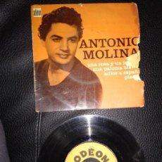 Discos de vinilo: ANTONIO MOLINA , UNA ROSA Y UN JAZMIN,PIEDAD, ADIOS A ESPAÑA,PALOMA BLANCA - EP - FRANCE. Lote 123005383