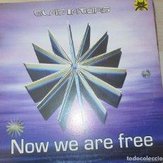 Discos de vinilo: GLADIATORS ?– NOW WE ARE FREE - MAXI 2002. Lote 123008627