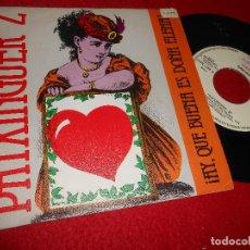 Discos de vinilo: PATXINGUER Z ¡AY QUE BUENA ES DOÑA HELENA!/BOLERO DE LOS CELOS 7 SINGLE 1984 ZAFIRO PROMO. Lote 123011203