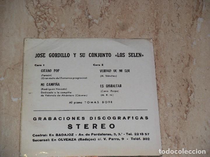 Discos de vinilo: JOSE GORDILLO Y SU CONJUNTO LOS SELEN - Gitano pop (Flamenco Progresivo)+3- EP VICTORIA 1972 - Foto 2 - 123013787