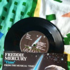 Discos de vinilo: FREDDIE MERCURY QUEEN SINGLE VINILO TIME. Lote 123043784