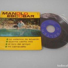Discos de vinilo: MANOLO ESCOBAR - EP 1966 - NO ESTAMOS DE ACUERDO + 3. Lote 123052427
