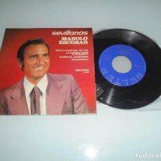 Discos de vinilo: X - MANOLO ESCOBAR - EP 1972 - SEVILLANAS DEL PIO PIO + 3. Lote 123052807