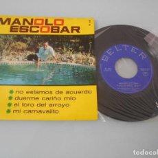 Discos de vinilo: MANOLO ESCOBAR - EP 1966 - DUERME CARIÑO MIO + 3. Lote 123053631