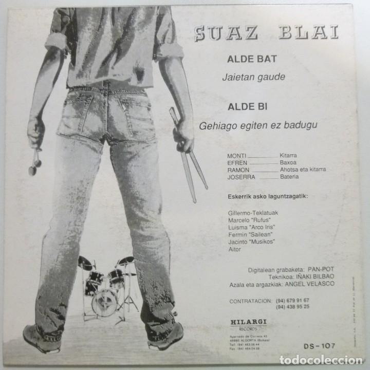 Discos de vinilo: Suaz blai Single Jaietan gaude año 90 Hilargi records Rock Vasco Muy buen estado casi nuevo - Foto 2 - 123054707