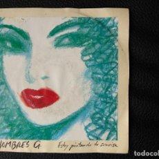 Discos de vinilo: HOMBRES G - ESTOY PINTANDO TU SONRRISA - SINGLE 1991. Lote 123057447