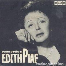 Discos de vinilo: RECUERDO A EDITH PIAF (EP DE 1966). Lote 123058347