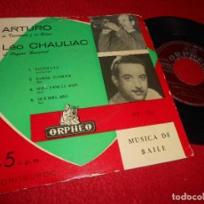 Discos de vinilo: ARTURO TROMPETA &LEO CHAULIAC HAMMOND SERENATA/S'AIMER D'AMOUR/QUE SERA SERA +1 EP 195? ORPHEO SPAIN. Lote 123072951