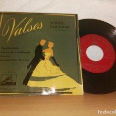 Discos de vinilo: VALSES LAS VOZ DE SU AMO. Lote 123085851