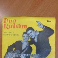 Discos de vinilo: DÚO RÚBAM - MANDOLINO DE SANREMO / QUE TE QUIERO / 24 MIL ... / SUEÑO - EP SAEF - PERFECTO ESTADO. Lote 123116079