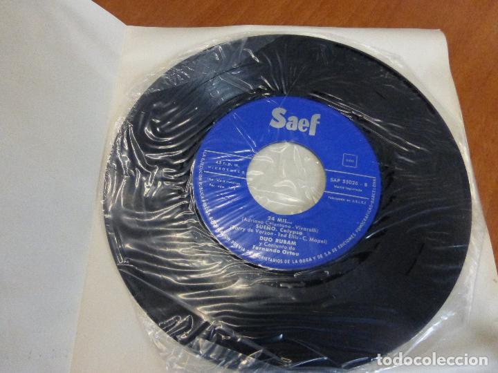 Discos de vinilo: Dúo Rúbam - Mandolino de sanremo / que te quiero / 24 mil ... / sueño - ep saef - Perfecto estado - Foto 3 - 123116079