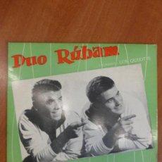 Discos de vinilo: DÚO RÚBAM - ENAMORADA / QUISIERA SER / LA NOVIA / - EP SAEF - PERFECTO ESTADO -. Lote 123116755
