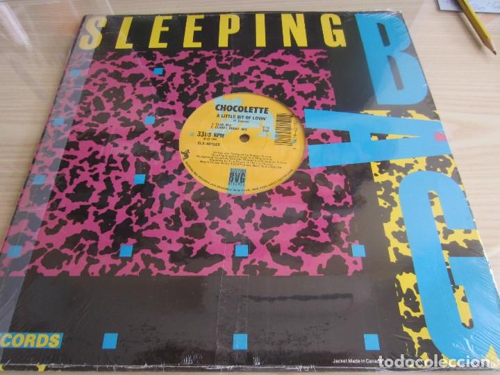Discos de vinilo: CHOCOLETTE - A LITTLE BIT OF LOVIN (4 VERSIONES) 1989 USA MAXI SINGLE - Foto 2 - 48426042