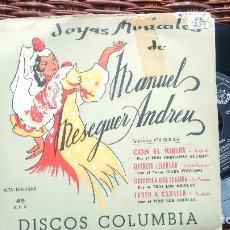 Discos de vinil: E P (VINILO) DE MANUEL MESEGUER ANDREU AÑOS 60. Lote 123135879