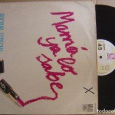 Discos de vinilo: MAMA YA LO SABE - POCIMA ESPECIAL - MAXI SINGLE 1985 - ZAFIRO. Lote 123192703
