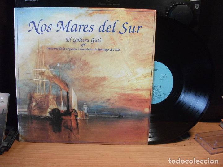 NOS MARES DEL SUE EL GAITERU GUTI MAESTROS D ELA O. DE S. CHILE LP FONOASTUR 1990 ASTURIAS (Música - Discos - LP Vinilo - Country y Folk)