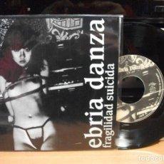 Discos de vinilo: EBRIA DANZA FRAGILIDAD SUICIDA - 4 TEMAS EP SPAIN 1979 PEPETO TOP . Lote 123218851