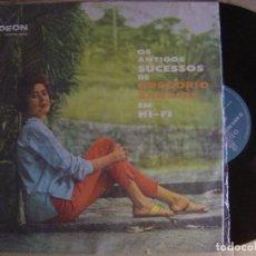 Discos de vinilo: GREGORIO BARRIOS - OS ANTIGUOS SUCESSOS EM HI-FI - LP BRASILEÑO - ODEON. Lote 123234267
