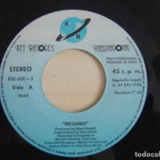Discos de vinilo: ATLANTIS MIX (THE HITS ALBUM) - MEGAMIX + MIX - SINGLE PROMOCIONAL 1986 - KEY. Lote 123246863