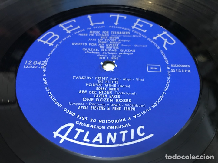 Discos de vinilo: Music for teenagers lp belter Atlantic Rnr r&b Ruth brown the coasters lavern baker - Foto 2 - 123254530