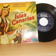 Discos de vinilo: FOLKLORE CANARIO CANCIONES POPULARES DE LAS ISLAS CANARIAS. Lote 123287755