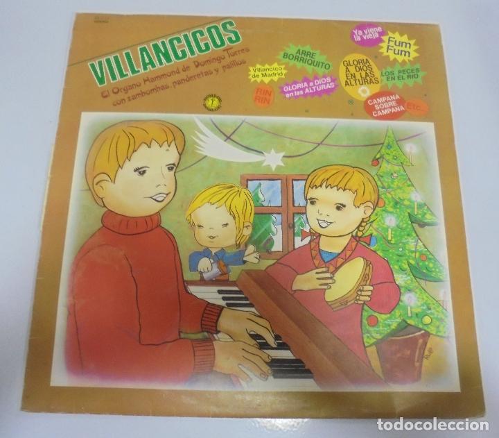 LP. VILLANCICOS. EL ORGANO HAMMOND DE DOMINGO TORRES CON ZAMBOMBAS, PANDERETAS. 1982 (Música - Discos - LPs Vinilo - Música Infantil)