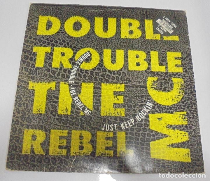 LP. DOUBLE TROUBLE. THE REBEL MAC. 1989. DESIRE (Música - Discos de Vinilo - EPs - Pop - Rock - New Wave Extranjero de los 80)