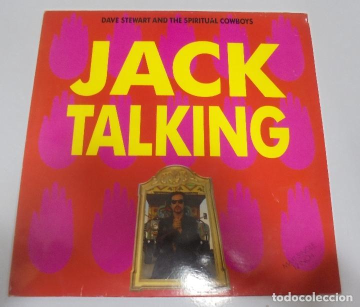 LP. JACK TALKING. DAVE STEWART AND THE SPIRITUAL COWBOYS. 1990. BMG (Música - Discos de Vinilo - Maxi Singles - Pop - Rock Extranjero de los 90 a la actualidad)