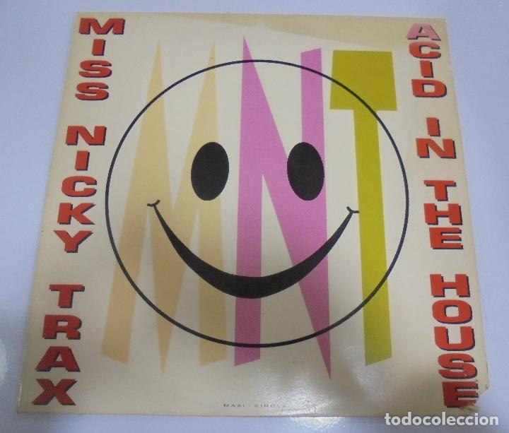 LP. MISS NICKY TRAX. ACID IN THE HOUSE. 1989. CBS (Música - Discos de Vinilo - Maxi Singles - Pop - Rock - New Wave Extranjero de los 80)