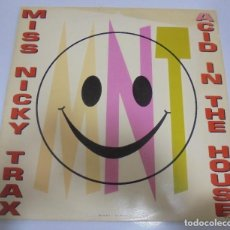Discos de vinilo: LP. MISS NICKY TRAX. ACID IN THE HOUSE. 1989. CBS. Lote 123302575