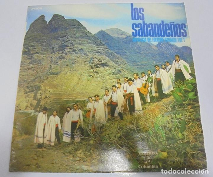 LP. LOS SABANDEÑOS. ANTOLOGIA DEL FOLKLORE CANARIO. VOL.1. (Música - Discos - LP Vinilo - Étnicas y Músicas del Mundo)