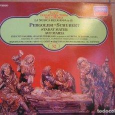 Discos de vinil: LA MUSICA RELIGIOSA II - PERGOLESI - SCHUBERT - LONDON 1983 - LP - P. Lote 123311155