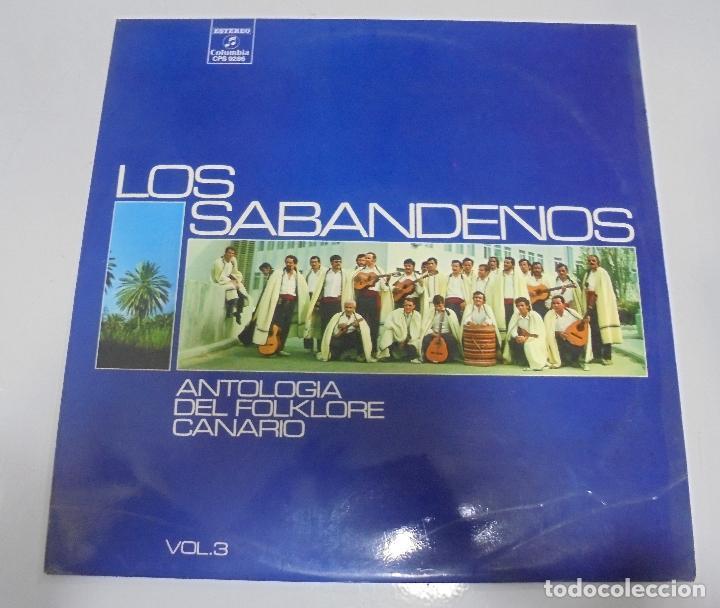LP. LOS SABANDEÑOS. ANTOLOGIA DEL FOLKLORE CANARIO. VOL.3. (Música - Discos - LP Vinilo - Étnicas y Músicas del Mundo)