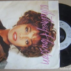 Dischi in vinile: WHITNEY HOUSTON - ALL THE MAN THAT I NEED + DANCIN ON THE SMOOTH EDGE - SINGLE UK 1990 - ARISTA. Lote 123343955