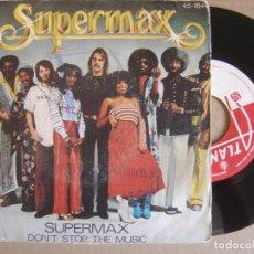Discos de vinilo: SUPERMAX - SUPERMAX + DON´T STOP THE MUSIC - SINGLE 1977 - ATLANTIC. Lote 123347671
