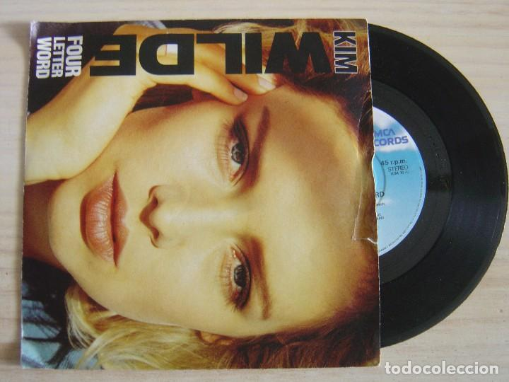 KIM WILDE - FOUR LETTER WORD + SHE HASN´T GOT TIME FOR YOU - SINGLE UK 1988 - MCA (Música - Discos de Vinilo - Singles - Pop - Rock Extranjero de los 80)
