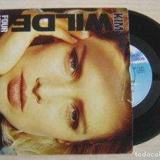 Discos de vinilo: KIM WILDE - FOUR LETTER WORD + SHE HASN´T GOT TIME FOR YOU - SINGLE UK 1988 - MCA. Lote 123373795