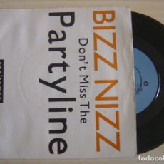 Discos de vinilo: BIZZ NIZZ - DON'T MISS THE PARTYLINE - SINGLE UK 1990 - COOLTEMPO. Lote 123378183