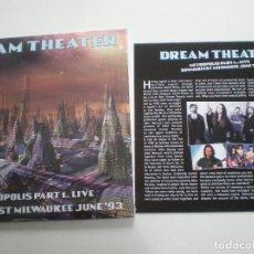 Discos de vinilo: DREAM THEATER - METROPOLIS PART 1 - DOBLE LP KLONDIKE 2016 // COMO NUEVO. Lote 123379023